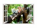 Sticker Decorativ, Fereastra 3D, Animale, 85 Cm, 307STK