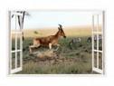 Sticker Decorativ, Fereastra 3D, Antilopa, 85 Cm, 321STK