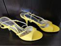 Pantofi cu toc dama super eleganti, culoare lemon, marime 39