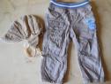 Pantaloni + caciulita pentru baietel de 2 ani
