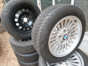 Jante/roti complete 3/5 iarna BMW 205/55 R16 M+S continental