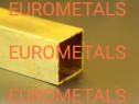 Teava alama patrata 20x20x2 CuZn37 MS63 inox cupru aluminiu