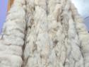 Haina blana naturala vulpe