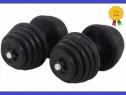 Set gantere reglabile cauciucate 20kg 30kg 40kg 50kg 60kg