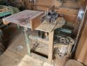 Masina de frezat lemn + motor trifazic + freze