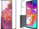 Husa Silicon + Folie Sticla Curbata 11D Samsung M31 M31S M51