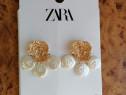 Cercei Zara aurii mari model superb - Noi ambalati