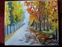 Septembrie in parc-pictura ulei pe panza