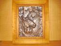 C31-I-Basorelief cai vechi in relief bronz masiv solid.