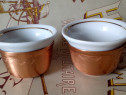 Tête à tête ceramică și aramă, pentru cafea