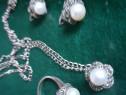Seturi argint 925 cu perla de cultura si marcasite italia