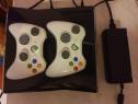 Consola Xbox 360 cu doua manete plus 60 jocuri full pe hard