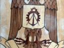 Emblemă militară - arma Geniu (placaj și furnir, lăcuit)