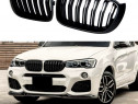 Grile Duble Negru Mat BMW X3(F25)/X4(F26) 2014-2017