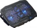 """Suport Stand Laptop Cooler Metalic 4 Ventilatoare 17.3"""" Seri"""
