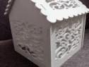 Căsuța dar nunta , cutie dar eleganta, cutie bani nunta