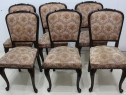 Set 6 Scaune Lemn Stil Rococo; Scaun vintage tapitat