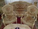 Salon canapea+fotolii+masa Ludovic/baroc venetian antic/vin
