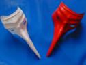 2 măști de carnaval, alb și roșu