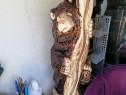 Trofeu urs, sculptat în lemn cu Drujba 1, Schimb