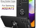 Husa Silicon Inel Placuta Metalica - Samsung A12 A52 A72