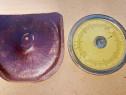 C835-I-Rigla de calcul circulara veche etui piele stare buna