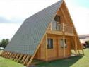 Cabane lemn forma literei A modulare