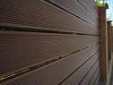 Gard WPC profil 120x24x4000mm maro inchis