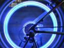 Set nou 2 leduri lumini albastre la roti bicicleta , leduri