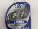 Conector Aerial Plug 2X F plug 5.5mm HQ HQSP-063 (1096)