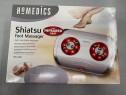 Aparat pentru masajul picioarelor Shiatsu cu căldură în infr