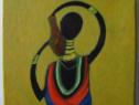 Compozitie africana-pictura ulei pe panza