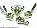 Set bijuterii argint rodiat zultanit Model ST409981