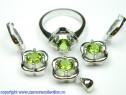 Set bijuterii argint rodiat zultanit Model ST119137