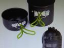 Set oale / vase camping drumetie munte picnic din 2 piese