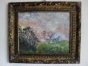 Peisaj 10-pictura ulei pe placaj;