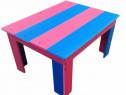 Masa multicolora pentru gradina