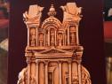 Suvenir Petra Iordania in catifea grena