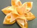 Broşă floare, organza, handmade