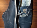 Pantofi piele, negri, barbatesti, Lasocki, masura 43