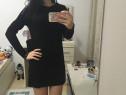 Rochie bluza colanti neagra, cu aplicatii, superba,s, noua
