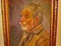 2773-I-A. POP- 1940- Cap de batran- Portret ulei pe panza.