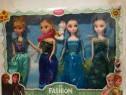 Set 4 Papusi 2x Elsa si 2x Ana 29cm