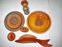 7857-Set decorativ 7 Obiecte rustice din lemn vechi.