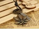 Lant lanturi pandantiv pandantive frunza cu marijuana iarba