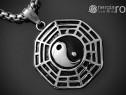 Pandantiv, Amuleta, Talisman, Medalion, Ying Yang, INOX