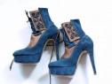 Pantofi handmade piele întoarsă