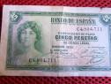 Bancnota 5 pesetas din anul 1935 Spania