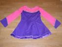 Costum carnaval serbare rochie dans pentru copii de 8-9 ani