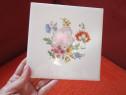 Placa ceramica vintage,cu flori multicolore,made in Austria